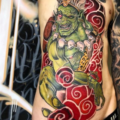 Fujin tattoo by Nicky D
