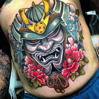 Stomach tattoo by Nicky D