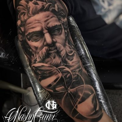 Black and grey realism tattoo by Nashy