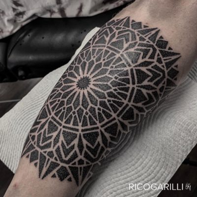 Rico Garilli mandala dotwork tattoo